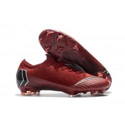 Nike Mercurial Vapor 12 Elite FG Crampons - Rouge Noir
