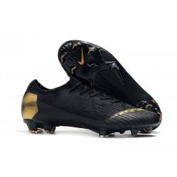 Chaussure Nike Mercurial Vapor XII 360 Elite FG Noir Or