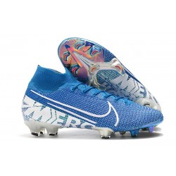 Nike Crampons Mercurial Superfly 7 Elite FG - New Lights Bleu