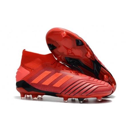 Chaussure adidas Predator 19.1 FG - Rouge