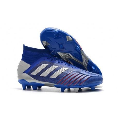 Chaussure adidas Predator 19.1 FG - Bleu Argent