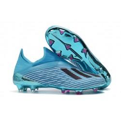 Crampons de Foot Nouvelles adidas X 19+ FG - Bleu