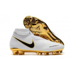 Chaussures Nike Phantom Vision Elite Dynamic Fit FG Blanc Or