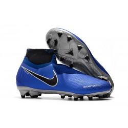 Chaussures Nike Phantom Vision Elite Dynamic Fit FG Bleu Argent