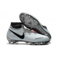 Chaussures Nike Phantom Vision Elite Dynamic Fit FG Gris Rouge