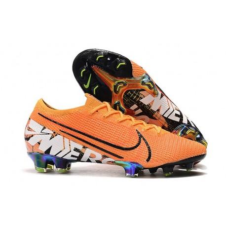 Chaussures Nike Mercurial Vapor 13 Elite FG Orange Noir