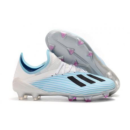 Chaussure de football à crampon adidas X 19.1 FG Bleu Blanc Noir