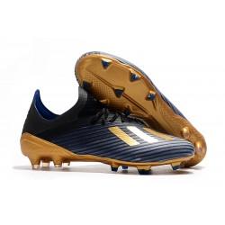 Chaussure de football à crampon adidas X 19.1 FG Bleu Noir Or