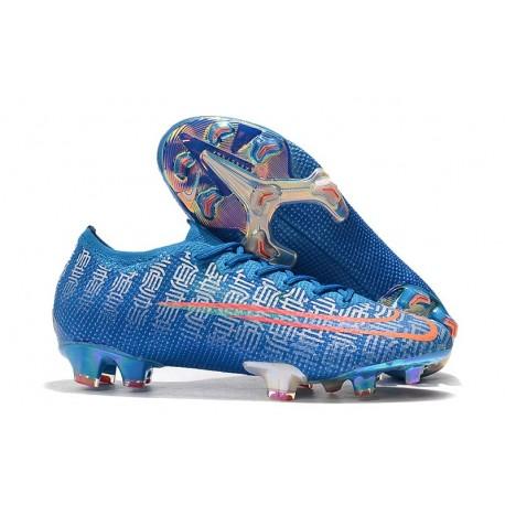 Chaussures Nike Mercurial Vapor 13 Elite FG Bleu Rouge