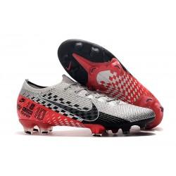 Chaussures Nike Mercurial Vapor 13 Elite FG NJR Chromé Noir Rouge Platine