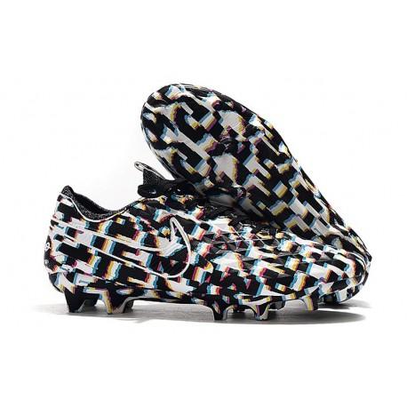 Chaussures Nouvelles Nike Tiempo Legend 7 Elite FG - Noir Blanc
