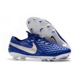 Chaussures Nouvelles Nike Tiempo Legend 8 Elite FG - Bleu Blanc