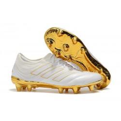 Chaussures Football adidas Copa 19.1 FG Blanc Or