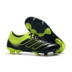 Chaussures Football adidas Copa 19.1 FG Noir Jaune Soleil