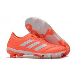 Chaussures Football adidas Copa 19.1 FG Rose Blanc Corail