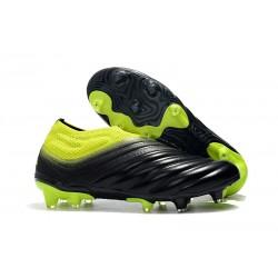 adidas Copa 19+ FG Crampons de Foot - Noir Jaune Soleil