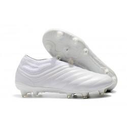 adidas Copa 19+ FG Crampons de Foot - Blanc