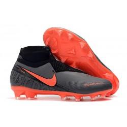 Nike Chaussure Phantom VSN Elite DF FG - Noir Cramoisi