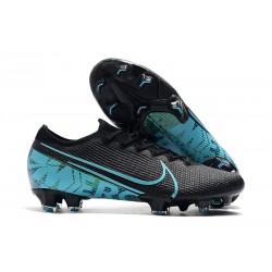 Chaussures Nike Mercurial Vapor 13 Elite FG Noir Bleu