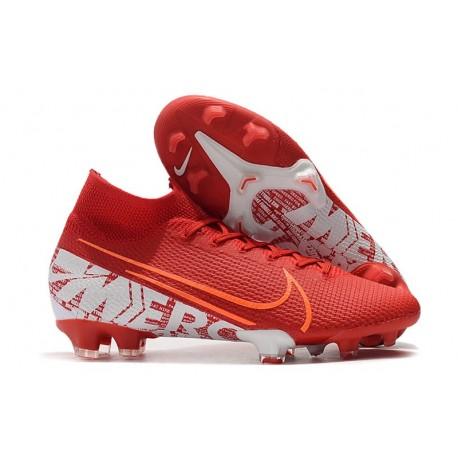 Nike Crampons Mercurial Superfly 7 Elite FG - Rouge Blanc