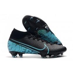 Nike Crampons Mercurial Superfly 7 Elite FG - Noir Bleu