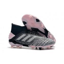 Chaussure de Foot adidas Predator 19+ FG - Gris Noir Rosa