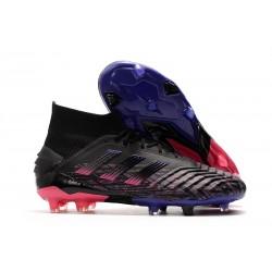 Chaussure de Foot adidas Predator 19+ FG - Noir Rose Bleu