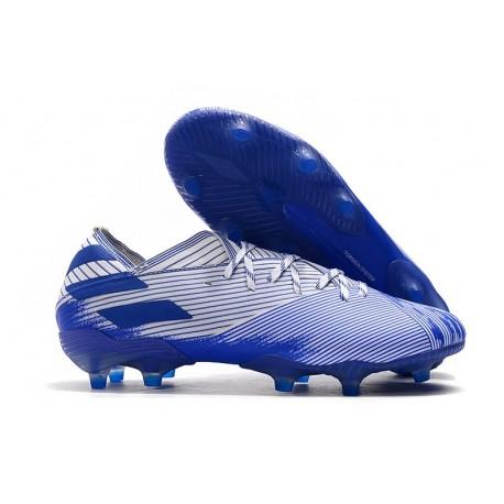 Crampon Nouvelles adidas Nemeziz 19.1 FG - Blanc Bleu