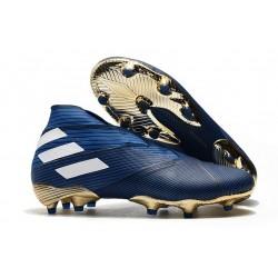 Chaussures Nouvelle adidas Nemeziz 19+ FG Bleu Blanc
