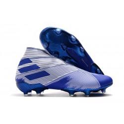 Chaussures Nouvelle adidas Nemeziz 19+ FG Blanc Bleu