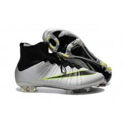 Chaussure a Crampon Cristiano Ronaldo Nike Mercurial Superfly FG Gris Noir