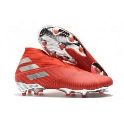 Chaussures Nouvelle adidas Nemeziz 19+ FG Rouge Argent