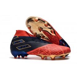 Chaussures Nouvelle adidas Nemeziz 19+ FG Spider-Man Rouge Noir