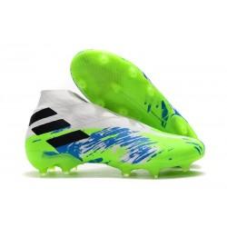 Chaussures Nouvelle adidas Nemeziz 19+ FG Blanc Vert Noir