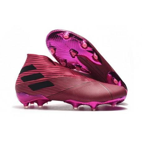 Chaussures Nouvelle adidas Nemeziz 19+ FG Rose Noir