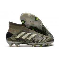 Chaussure de Foot adidas Predator 19+ FG -Héritage Vert/ Sable/Jaune solaire