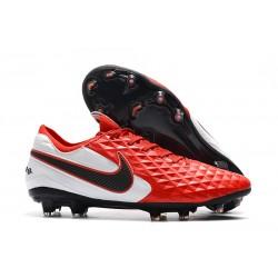 Chaussures Nouvelles Nike Tiempo Legend 7 Elite FG -Rouge Blanc Noir