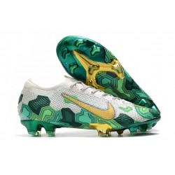 Mbappe Nike Mercurial Vapor XIII Elite FG Crampons Gris Or Vert