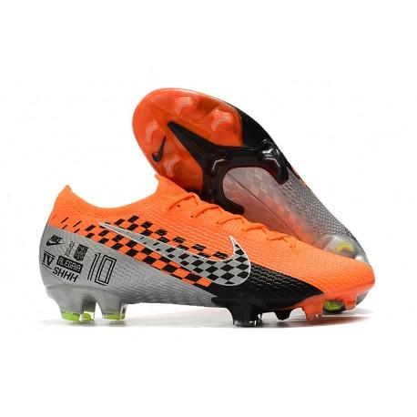 Nike Mercurial Vapor XIII Elite FG Crampons Orange Chrome Noir