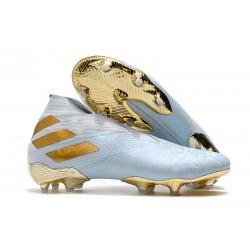 Chaussures Nouvelle adidas Nemeziz 19+ FG Bold Aqua Or Blanc