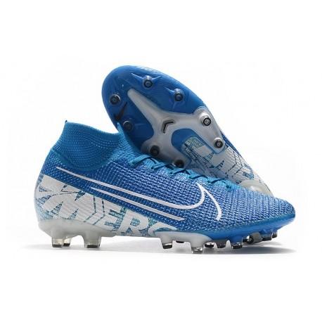 Nike Mercurial Superfly VII Elite AG-PRO Bleu Blanc
