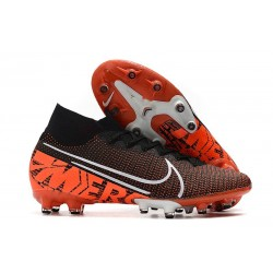 Nike Mercurial Superfly VII Elite AG-PRO Noir Orange Blanc
