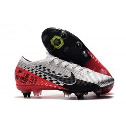 Chaussures Nike Mercurial Vapor 13 Elite SG-Pro Neymar Platine Noir Rouge
