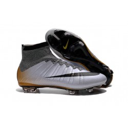 Chausssures Neuf 2015-2016 Nike Mercurial Superfly 4 FG Nike Mercurial Superfly CR7 324K Gold Gris Noir Orange