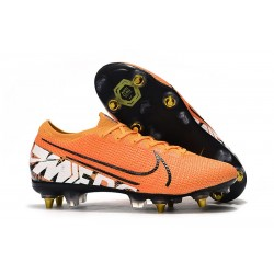 Chaussures Nike Mercurial Vapor 13 Elite SG-Pro Orange Blanc Noir