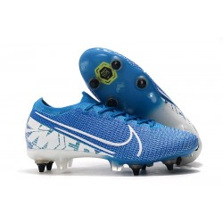 Chaussures Nike Mercurial Vapor 13 Elite SG-Pro New Lights Bleu Blanc