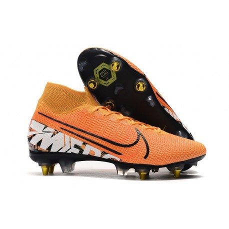 Nouvelles Nike Mercurial Superfly VII Elite SG-Pro Orange Blanc Noir