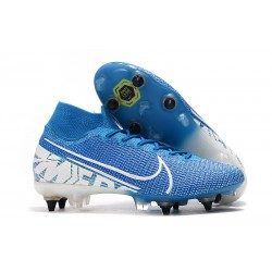 Nouvelles Nike Mercurial Superfly VII Elite SG-Pro New Lights Bleu Blanc