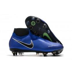 Nike Phantom VSN Elite DF SG-Pro Anti Clog Bleu Chrome Blanc