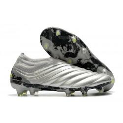 Chaussures Nouvel adidas Copa 20+ FG -Gris Jaune Solaire